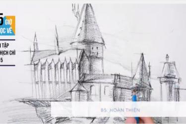 Vẽ lâu đài HOGWARTS từ khối cơ bản cùng Bụi!