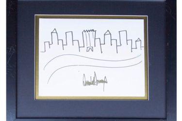Bức tranh ký họa New York của Tổng thống Mỹ Donald Trump được bán với mức giá kỷ lục 29.000USD