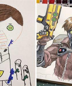 Từ tranh vẽ nguệch ngoạc của con, ông bố họa sĩ đã tạo ra cả một vũ trụ phim hoạt hình cực ngầu
