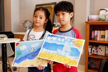 Người mẫu nhí Sushi Đăng Khôi, Minh Anh, Hà Trang thi tài vẽ tranh tại lớp Cọ mầm