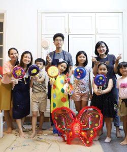 """Mỹ thuật Bụi phối hợp cùng Neokid tổ chức """"Lễ hội rước trăng"""" mừng Trung thu"""