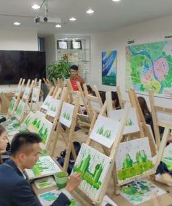 """Workshop """"Vẽ toà nhà xanh"""" tại công ty CBRE"""