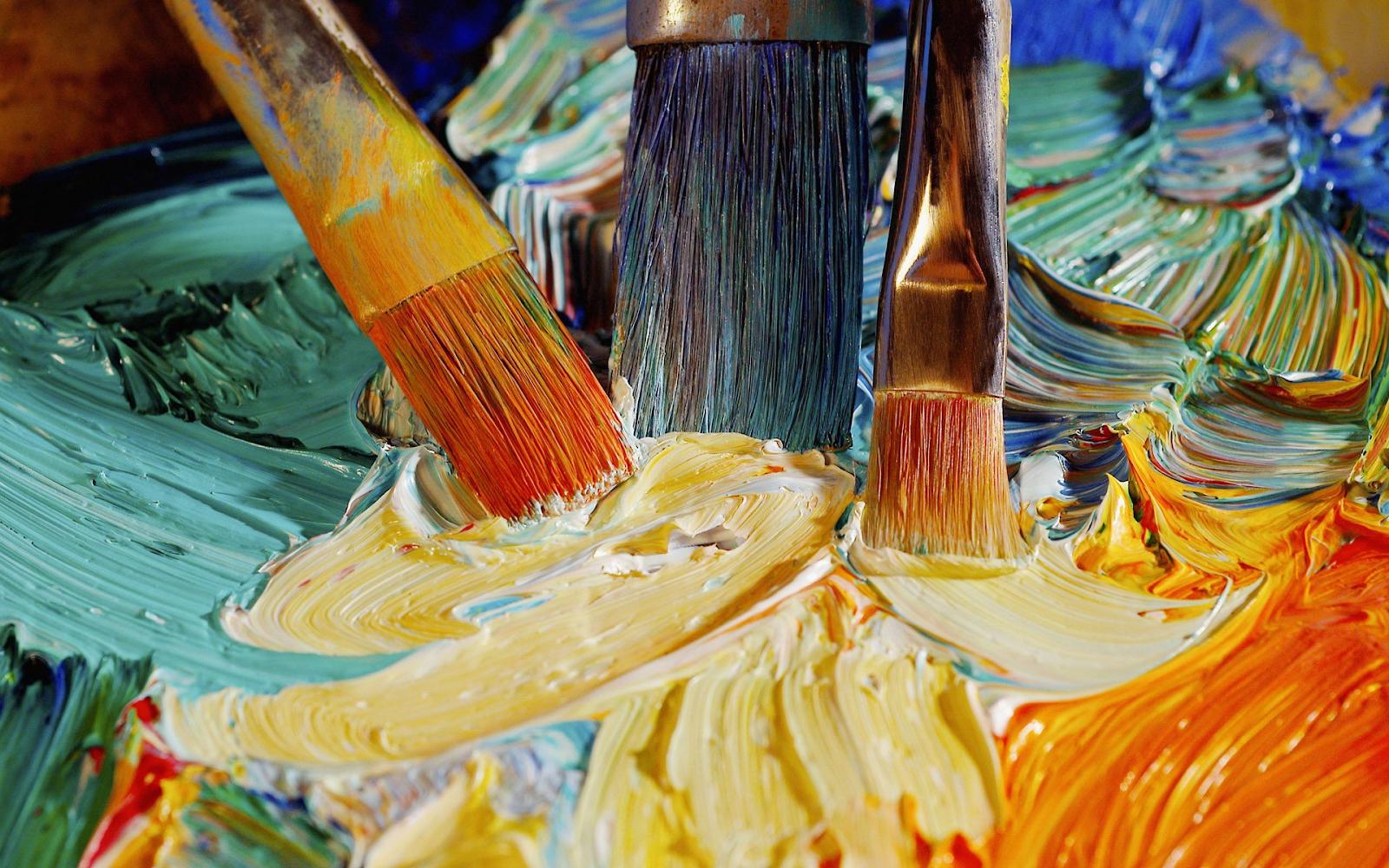 Cách phân biệt màu nước, màu bột và sơn dầu | Mỹ Thuật Bụi