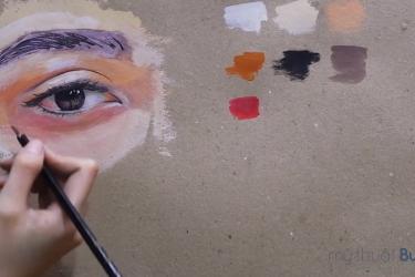 [VIDEO] Hướng dẫn vẽ mắt bằng màu Gouache