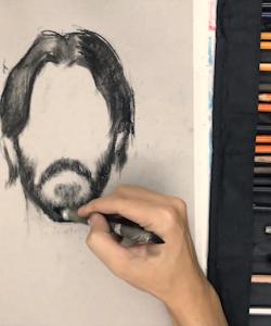 [Video] Học vẽ Chân dung - Hướng dẫn Tả Tóc và Râu bằng Chì Than