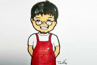 Minh Tuấn – Tiếp xúc hội hoạ từ những tiểu thương ở chợ