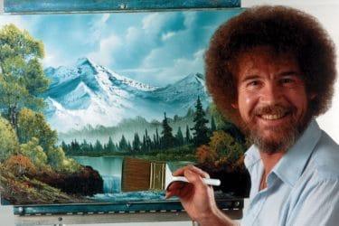 """Danh họa Bob Ross - """"Ông già Noel"""" ban phát niềm vui hội họa"""