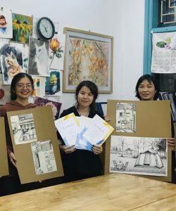 [HN] Bài tốt nghiệp khóa Ký Họa 17 Thái Hà tháng 3