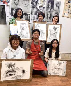 [HN] Bài tốt nghiệp khóa Ký Họa 15 Thái Hà Tháng 3